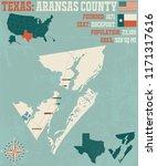 detailed map of aransas county... | Shutterstock .eps vector #1171317616