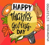 vector card for thanksgiving.... | Shutterstock .eps vector #1171319500