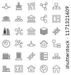 thin line vector icon set  ... | Shutterstock .eps vector #1171321609