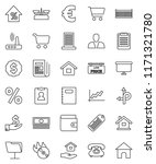 thin line vector icon set  ... | Shutterstock .eps vector #1171321780
