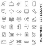 thin line vector icon set  ... | Shutterstock .eps vector #1171322059