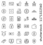 thin line vector icon set  ... | Shutterstock .eps vector #1171322560