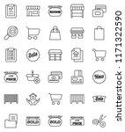 thin line vector icon set  ... | Shutterstock .eps vector #1171322590