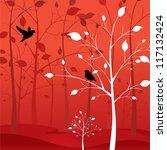 Love Birds In The Woods