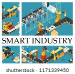 isometric automated factory... | Shutterstock .eps vector #1171339450