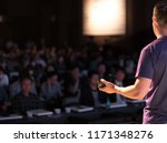 presenter giving presentation... | Shutterstock . vector #1171348276