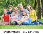 family with many children... | Shutterstock . vector #1171348909