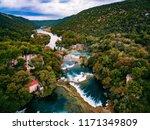 Aerial Photo Of Krka Waterfall...