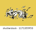 musical instruments background. ... | Shutterstock .eps vector #1171355953