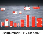 set signage.direction pole ... | Shutterstock .eps vector #1171356589