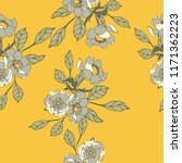 elegance pattern with flowers... | Shutterstock .eps vector #1171362223