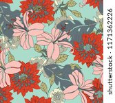 elegance pattern with flowers... | Shutterstock .eps vector #1171362226