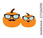 pumpkin family love couple.... | Shutterstock .eps vector #1171362550