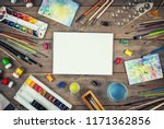 et of painter accessories.... | Shutterstock . vector #1171362856