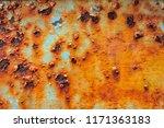 the iron door at home rusts up.   Shutterstock . vector #1171363183