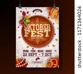 oktoberfest poster vector... | Shutterstock .eps vector #1171364026