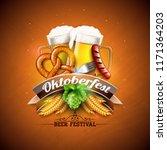 oktoberfest banner illustration ... | Shutterstock .eps vector #1171364203