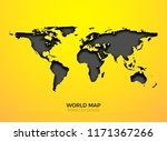 world vector map template...   Shutterstock .eps vector #1171367266