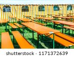bavarian beergarden   table and ... | Shutterstock . vector #1171372639