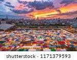 color full of train night... | Shutterstock . vector #1171379593