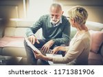 taking time to discuss... | Shutterstock . vector #1171381906