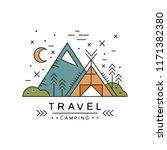 travel camping logo design ... | Shutterstock .eps vector #1171382380