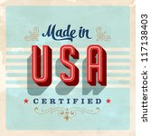 made in usa label   vector... | Shutterstock .eps vector #117138403