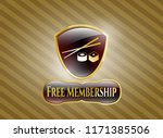 gold emblem with sushi icon... | Shutterstock .eps vector #1171385506