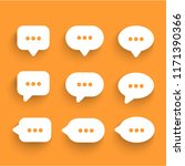 speech bubbles icons set. chat...