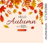 autumn up to 50  off sale.... | Shutterstock .eps vector #1171392880