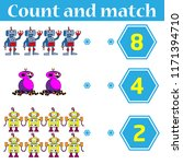 counting game for preschool... | Shutterstock .eps vector #1171394710