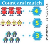 counting game for preschool... | Shutterstock .eps vector #1171394716