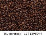coffee beans texture high... | Shutterstock . vector #1171395049