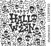happy halloween card halloween...   Shutterstock .eps vector #1171395910
