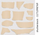 collection of paper scraps... | Shutterstock .eps vector #1171398769