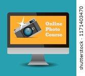 flat design online photo course ...   Shutterstock .eps vector #1171403470