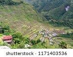 beautiful landscape at banaue...   Shutterstock . vector #1171403536
