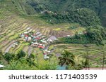 beautiful landscape at banaue...   Shutterstock . vector #1171403539