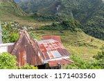 beautiful landscape at banaue...   Shutterstock . vector #1171403560