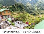 beautiful landscape at banaue...   Shutterstock . vector #1171403566