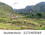 beautiful landscape at banaue...   Shutterstock . vector #1171403569