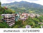 mountain town banaue landscape...   Shutterstock . vector #1171403890