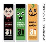 halloween vertical banner... | Shutterstock .eps vector #1171405369