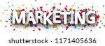 marketing sign with colorful... | Shutterstock .eps vector #1171405636