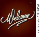 welcome hand lettering  ... | Shutterstock .eps vector #117140569