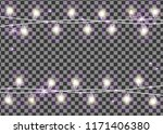 christmas garland on... | Shutterstock .eps vector #1171406380