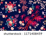 beautiful japanese garden....   Shutterstock .eps vector #1171408459