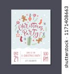 vector christmas party... | Shutterstock .eps vector #1171408663