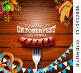 oktoberfest banner illustration ... | Shutterstock .eps vector #1171412836