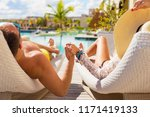 couple on honeymoon in luxury... | Shutterstock . vector #1171419133